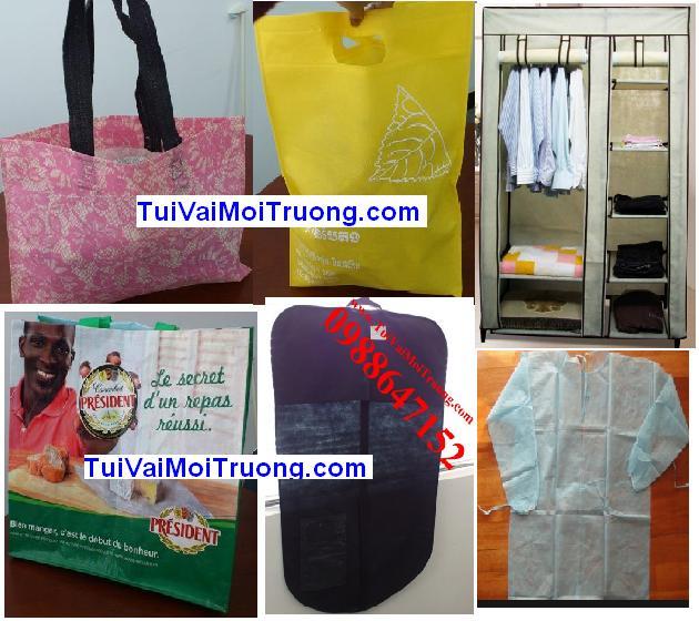 vải không dệt được ứng dụng tạo ra nhiều loại sản phẩm