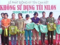 túi thân thiện môi trường, túi nilon, túi vải không dệt, Bộ Tài Nguyên và Môi Trường