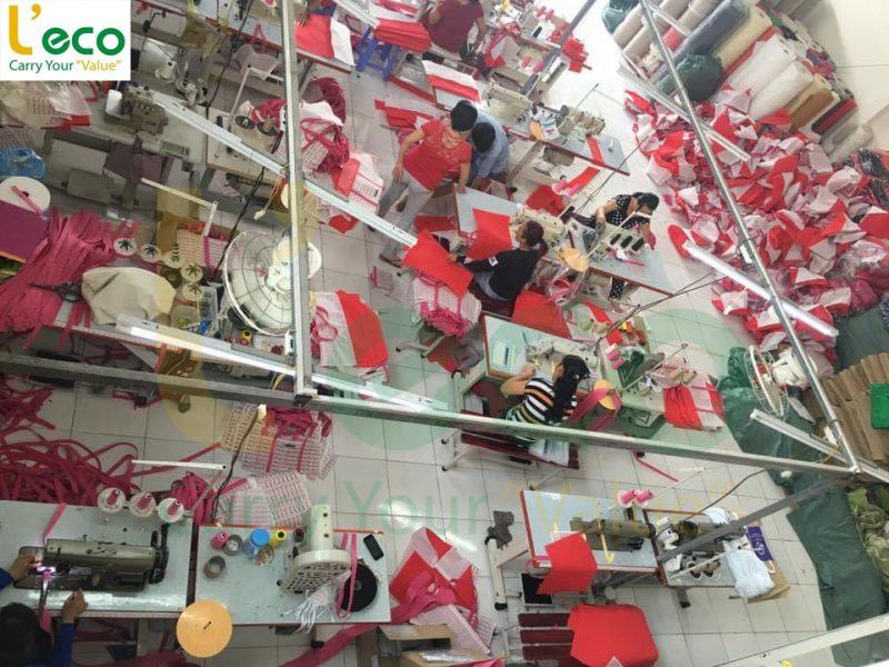 Xưởng may túi vải đựng bánh trung thu